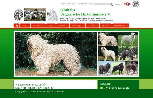 Vorschau von www.kfuh.de, Klub für Ungarische Hirtenhunde