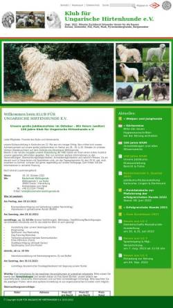 Vorschau der mobilen Webseite www.kfuh.de, Klub für Ungarische Hirtenhunde