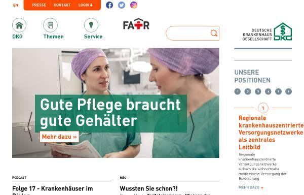 Vorschau von www.dkgev.de, Deutsche Krankenhausgesellschaft