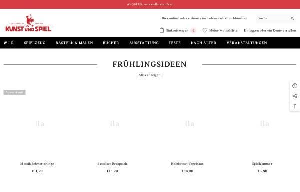 Vorschau von www.kunstundspiel.de, Kunst und Spiel Einzelhandelsgesellschaft mbH