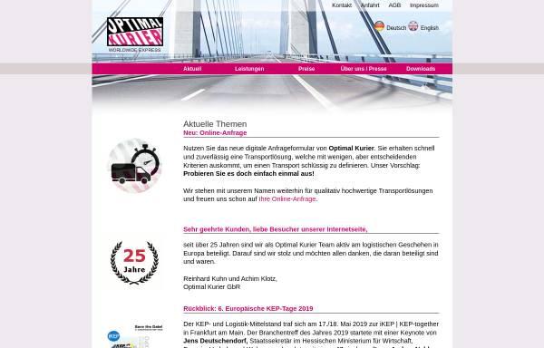 Vorschau von www.optimal-kurier.de, Optimal Kurier Klotz/Kuhn GbR