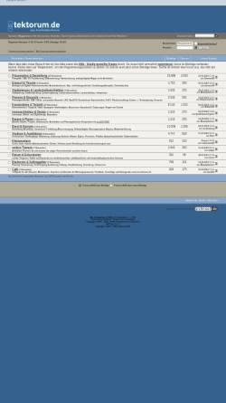 Vorschau der mobilen Webseite www.tektorum.de, tektorum.de - Diskussionsforum für Architektur