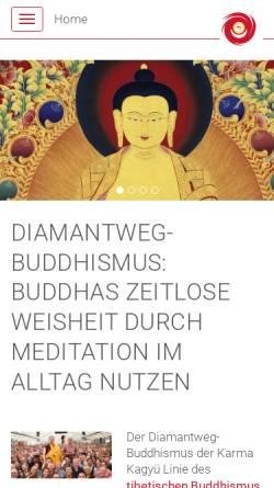 Vorschau der mobilen Webseite www.buddhismus-west.de, Buddhistische Zentren West der Karma-Kagyue-Linie e.V.
