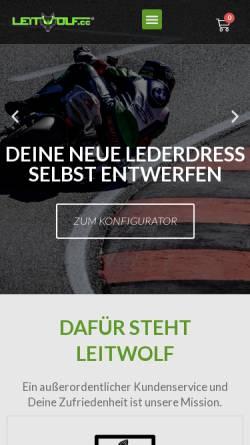 Vorschau der mobilen Webseite www.leitwolf.cc, Leitwolf.cc - Motorrad Szene Portal