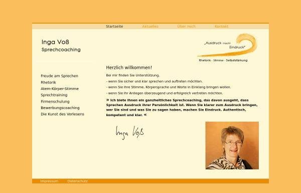 Vorschau von www.trauerrednerin-voss.de, Inga Voß