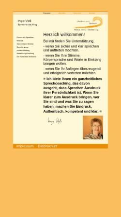 Vorschau der mobilen Webseite www.trauerrednerin-voss.de, Inga Voß