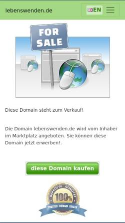 Vorschau der mobilen Webseite www.lebenswenden.de, Ralph Kirscht