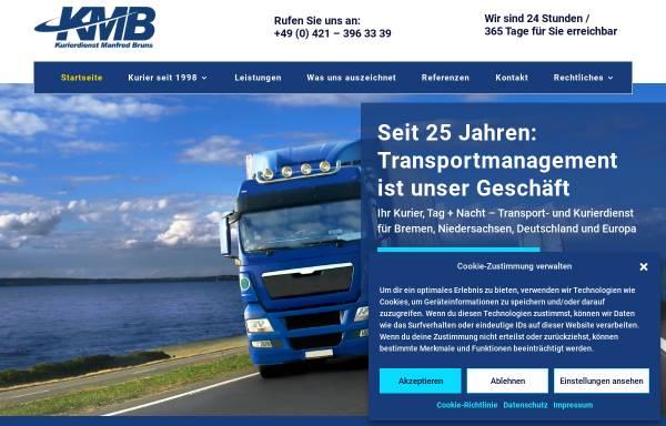 Vorschau von www.kurierdienst-manfred-bruns.net, Kurierdienst Manfred Bruns e.K.