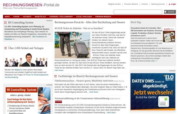 Vorschau von www.rechnungswesen-portal.de, Rechnungswesen-Portal.de