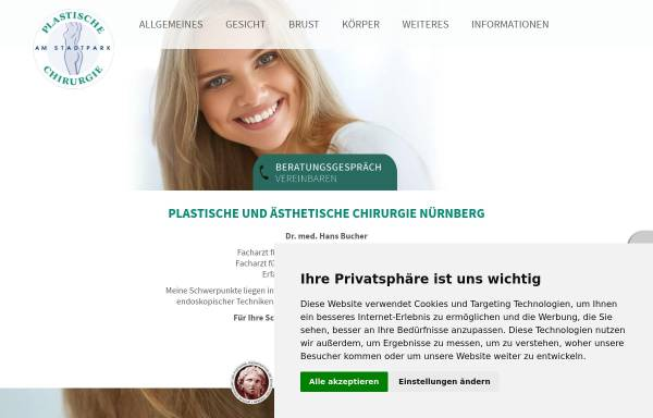 Vorschau von www.plastische-chirurgie-nuernberg.info, Dr. Hans Bucher