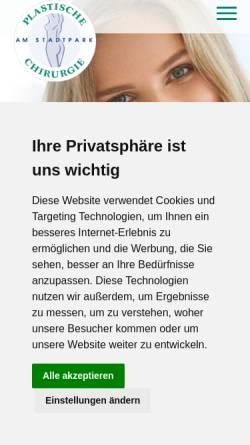 Vorschau der mobilen Webseite www.plastische-chirurgie-nuernberg.info, Dr. Hans Bucher