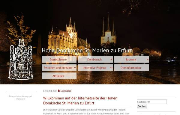 Vorschau von www.dom-erfurt.de, Dom St. Marien