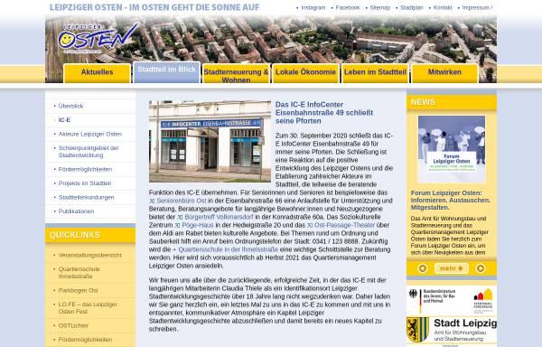 Vorschau von www.leipziger-osten.de, Leipziger Osten