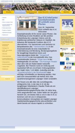 Vorschau der mobilen Webseite www.leipziger-osten.de, Leipziger Osten