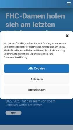 Vorschau der mobilen Webseite www.mannheimerhc.de, Mannheimer HC 1907 e.V.