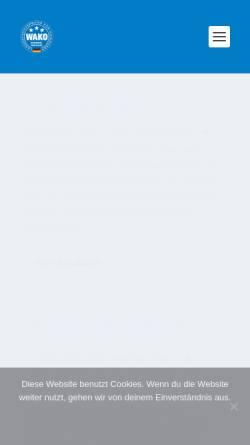 Vorschau der mobilen Webseite www.wako-in-nw.de, WAKO Landesverband Nordrhein-Westfalen e.V.