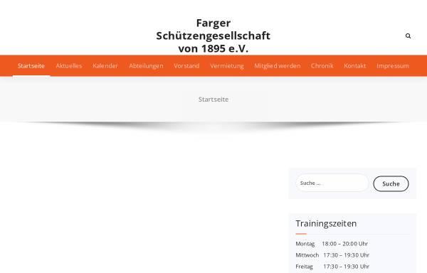 Vorschau von farger-schuetzengesellschaft.de, Farger Schützengesellschaft von 1895 e. V.