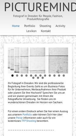 Vorschau der mobilen Webseite www.pictureminds.de, Michael Heinke
