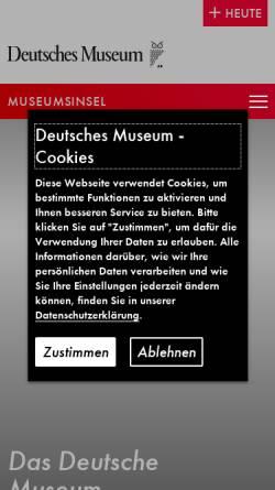 Vorschau der mobilen Webseite www.deutsches-museum.de, Deutsches Museum