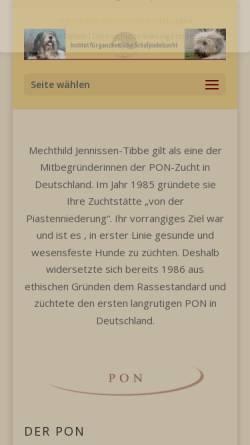 Vorschau der mobilen Webseite www.pon-deutschland.de, Möhnesee