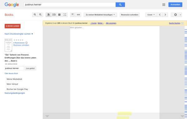 Vorschau von books.google.de, Kerner, Justinus., Die Seherin von Prevorst.
