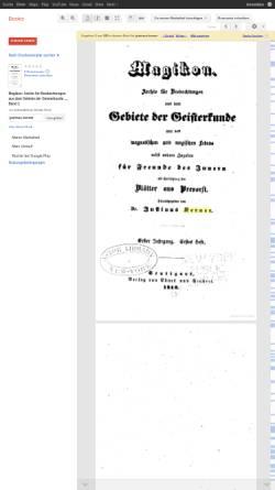 Vorschau der mobilen Webseite books.google.de, Kerner, Justinus., Magikon