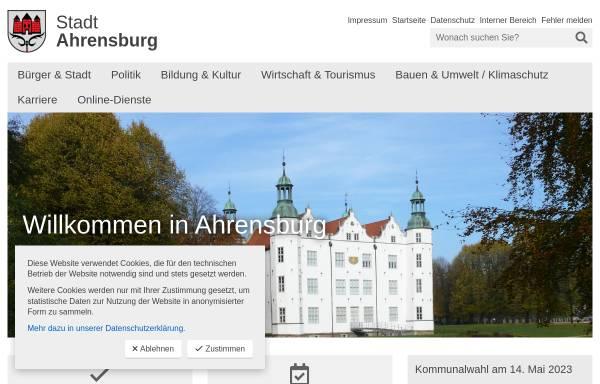 Vorschau von www.ahrensburg.de, Stadt Ahrensburg