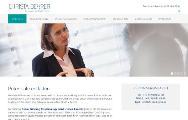 Vorschau von www.christa-beyrer.de, Christa Beyrer