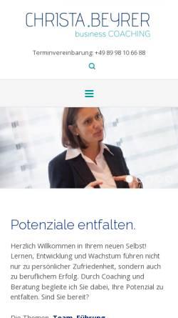 Vorschau der mobilen Webseite www.christa-beyrer.de, Christa Beyrer