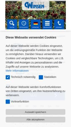 Vorschau der mobilen Webseite www.winsen.de, Stadt Winsen/Luhe