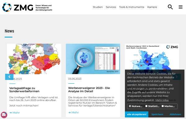 Vorschau von www.zmg.de, ZMG Zeitungs Marketing Gesellschaft mbH & Co. KG