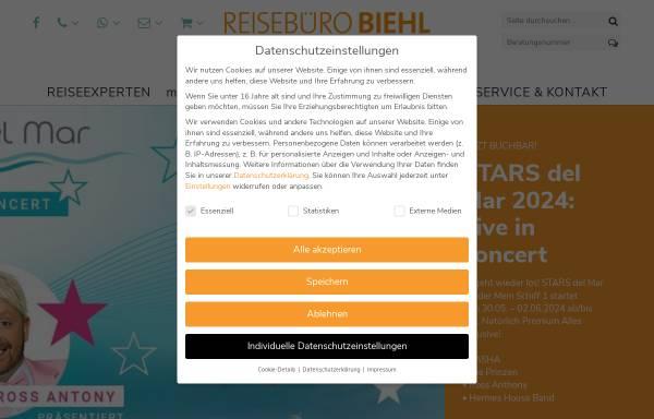 Vorschau von www.biehl-reisen.de, Biehl-Reisen