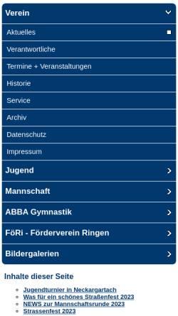 Vorschau der mobilen Webseite www.ksv-kirchheim.de, Kraft-Sport-Verein Kirchheim am Neckar
