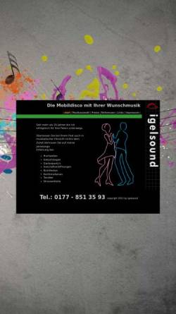 Vorschau der mobilen Webseite www.igelsound.de, igelsound