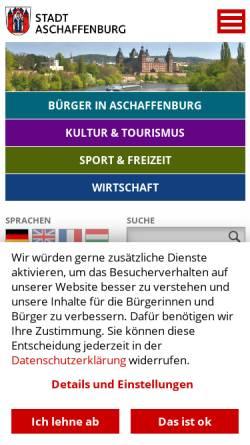 Vorschau der mobilen Webseite www.aschaffenburg.de, Stadt Aschaffenburg