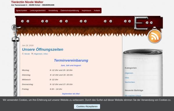 Vorschau von www.tierarzt-kirkel.de, Reiche, Carola und Nicole Wagner Tierärztinnen
