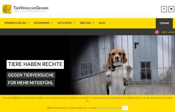 Vorschau von tierversuchsgegner-berlin-brandenburg.de, Tierversuchsgegner Berlin und Brandenburg e.V.