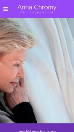 Vorschau der mobilen Webseite www.annachromy.com, Chromy, Anna