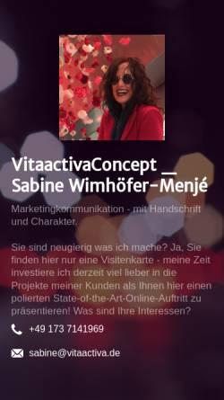 Vorschau der mobilen Webseite www.vitaactiva.de, Vitaactiva Concept