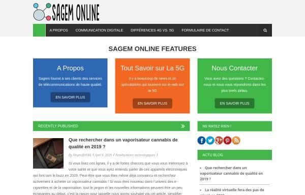 Vorschau von www.sagem-online.com, Sagem-online