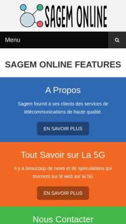 Vorschau der mobilen Webseite www.sagem-online.com, Sagem-online