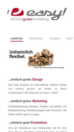 Vorschau der mobilen Webseite www.easy-pa.de, EASY! - Die Produktionsagentur