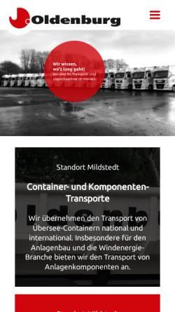 Vorschau der mobilen Webseite www.spedition-oldenburg.de, Spedition Oldenburg