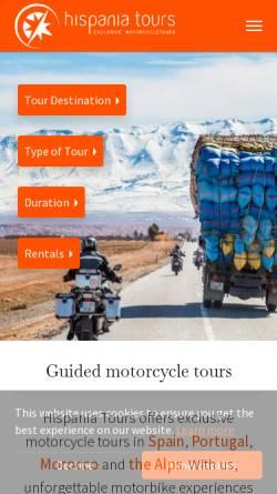 Vorschau der mobilen Webseite www.hispania-tours.de, Hispania-Tours