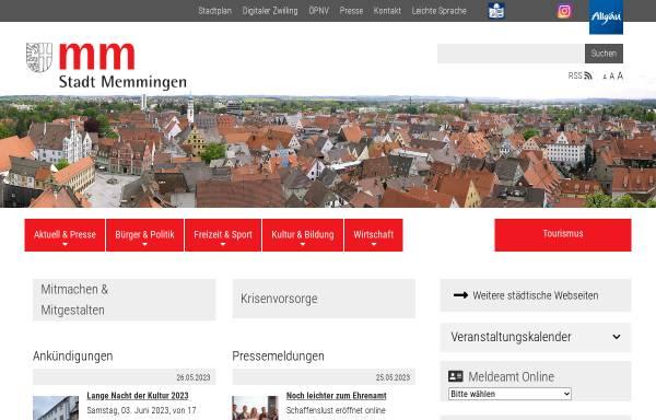 Vorschau von www.memmingen.de, Stadt Memmingen