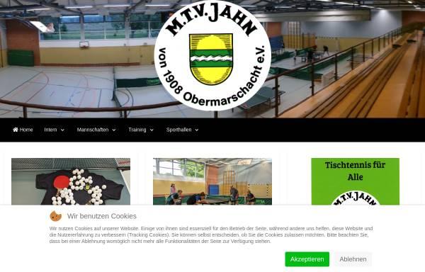 Vorschau von www.tt-obermarschacht.de, MTV Jahn von 1908 Obermarschacht e.V. Tischtennis