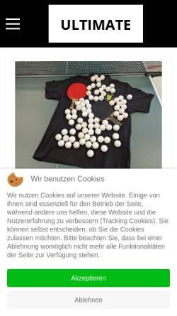 Vorschau der mobilen Webseite www.tt-obermarschacht.de, MTV Jahn von 1908 Obermarschacht e.V. Tischtennis