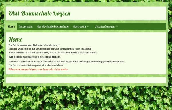 Vorschau von www.baumschule-boysen.de, Baumschule Boysen
