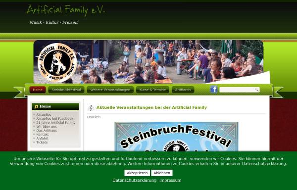 Vorschau von www.artifly.de, Artificial Family e.V.