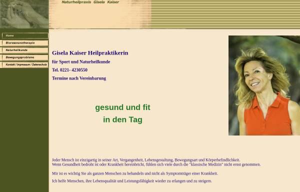 Vorschau von www.kaiser-praxis.de, Gisela Kaiser, Heilpraktikerin